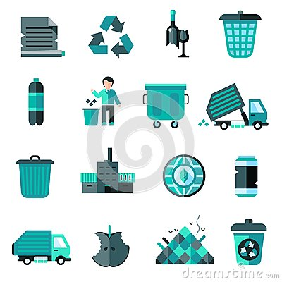 Free Garbage Icons Set Stock Photo - 49736180