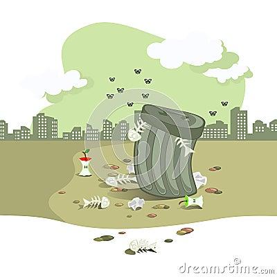 Garbage pit