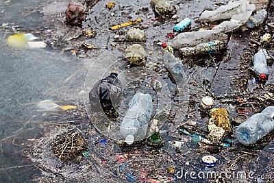 Garbage of plastic bottle