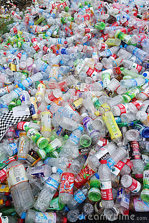 Garbage plastic bottles Editorial Stock Image