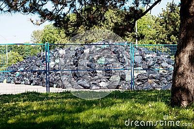 Garbage Storage Site Editorial Stock Photo