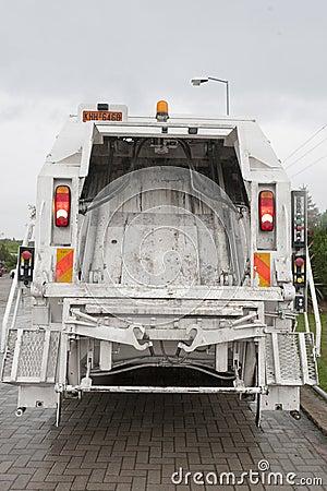 Garbage truck Editorial Stock Image