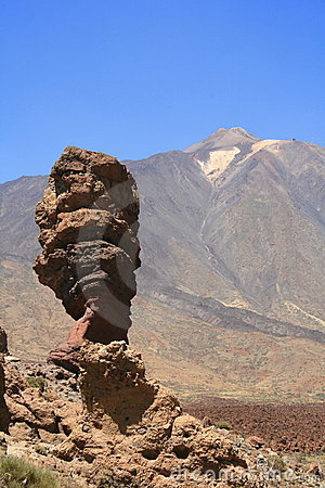Garcia rock and volcano teide