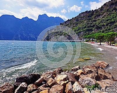 Garda lake beach