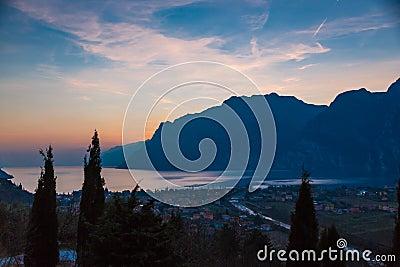 Garda lake sunset