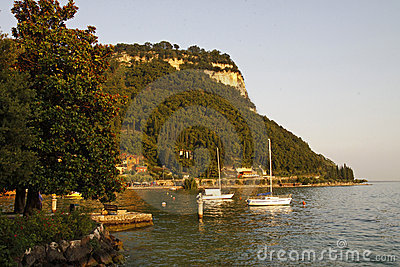 Garda, view of the promenade at Lake Garda, Italy