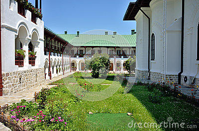Garden of Agapia orthodox monastery