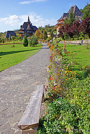 Garden of barsana monastery