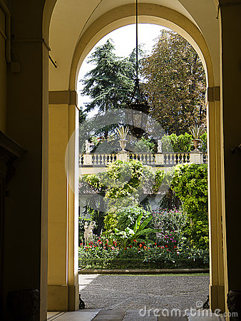 Garden in Bologna Italy
