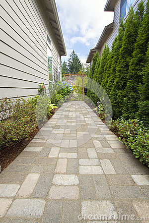 Garden Brick Paver Path Walkway with Arbor