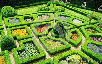 Garden in castle Pieskowa Skala, Poland