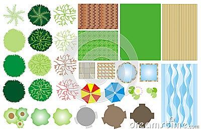 Garden design icons