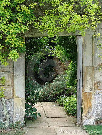 Garden doorway with path