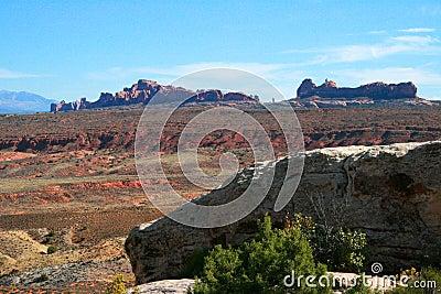 Garden Of Eden Rock Formations Arches National Park Moab Utah Stock Illustration Image 65317789