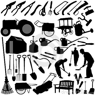 Garden equipments vector
