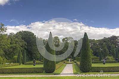 Garden estate Verhildersum Editorial Photo