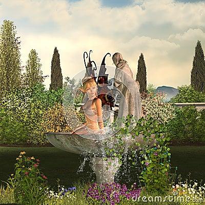 Free Garden Fairy - Day Stock Image - 5852201