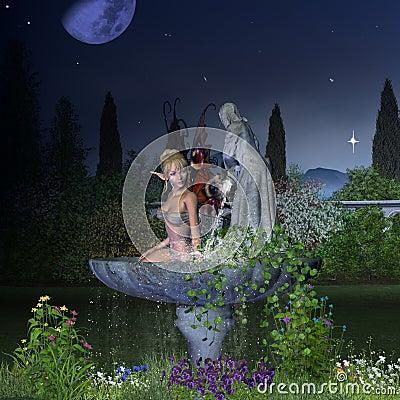 Garden Fairy - Night