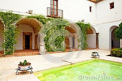 The garden of the famous Alcazar of Cordoba