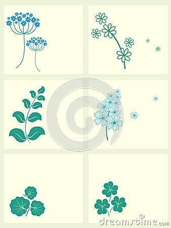 Garden flowers frames set.