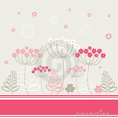 Garden flowers and herbs background.
