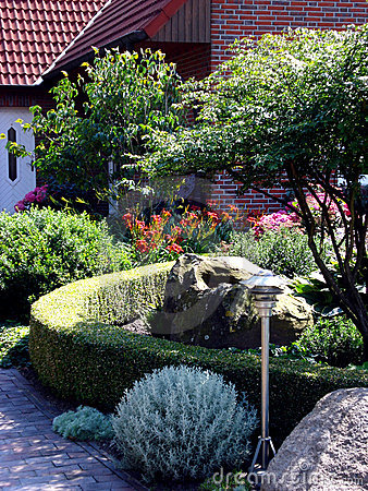 Garden in front of the house