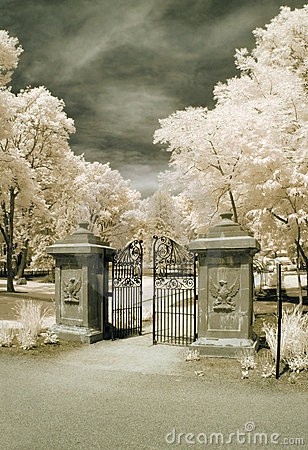 Free Garden Gate In Infrared Stock Photo - 2724850