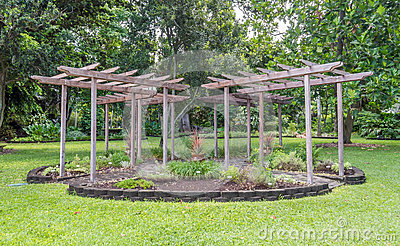 Garden Gazebo Stock Photo Image 59304512