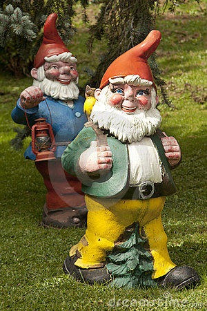 Free Garden Gnomes In The Swiss Alps Royalty Free Stock Image - 14974076