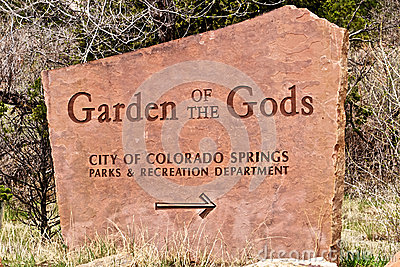 Garden of the Gods Sign Editorial Image
