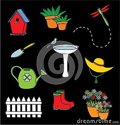 Free Garden Icon Set Stock Image - 13582951