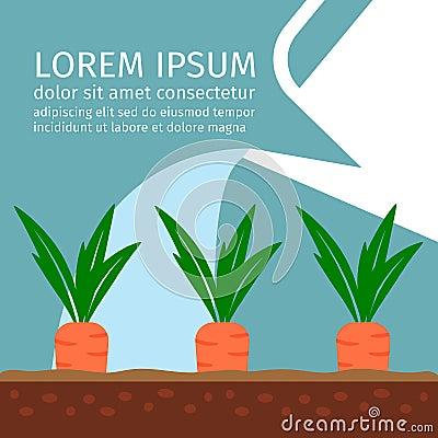 Free Garden Illustration With Carrots Stock Photos - 84201873