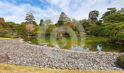 Garden in imperial palace, Kyoto, Japan