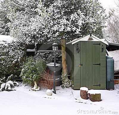 Free Garden In The Snow Stock Photos - 8057183