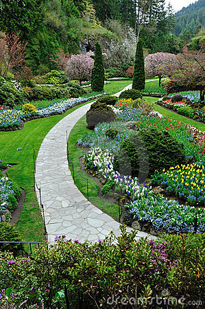 Free Garden Landscaping, Victoria Bc Royalty Free Stock Photo - 13426255