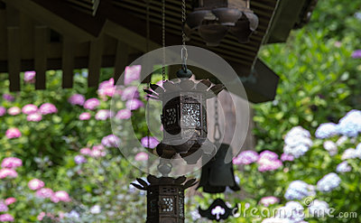 Garden lantern of japanese temple