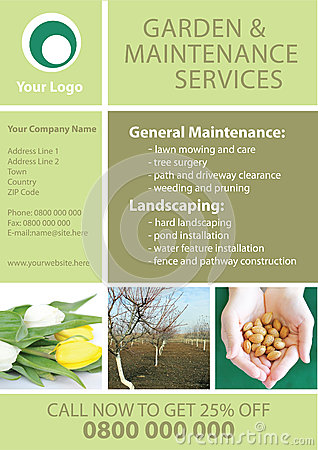 Garden And Maintenance Flyer Template