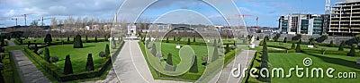 Garden of museum of modern art of dublin