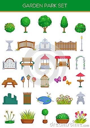 Free Garden Park Set Royalty Free Stock Image - 46379506