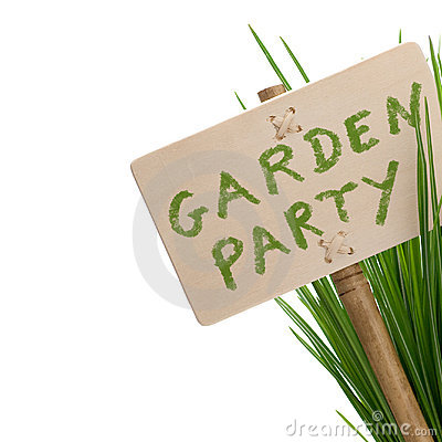 Free Garden Party Message Royalty Free Stock Images - 14345429