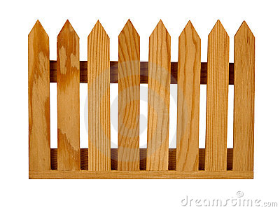 Garden Picket Fence Panel Isolated Royalty Free Stock Image