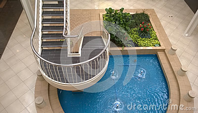 Garden ,pool and stairway