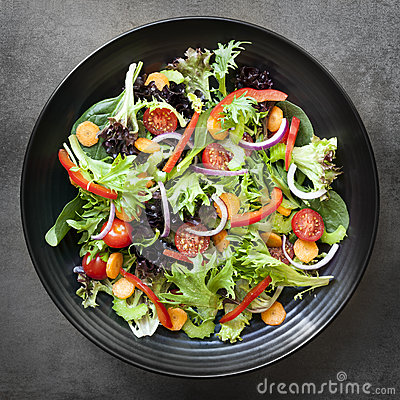 Free Garden Salad Overhead View Royalty Free Stock Photos - 45541318
