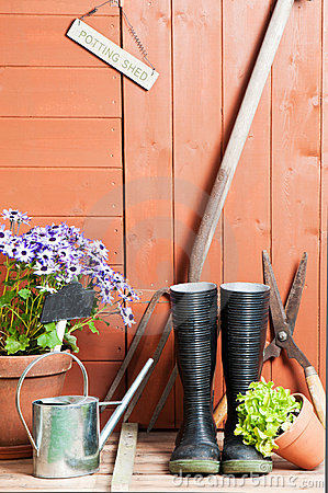 Free Garden Shed Stock Photo - 14917950