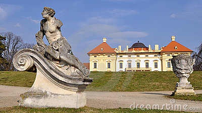 Garden Of Slavkov Castle Royalty Free Stock Images - Image: 14187189