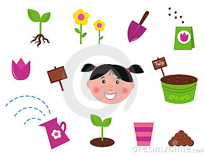 Garden, spring & nature icons and elements