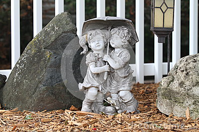Statue Of Two Children Stock Image Image 6853571