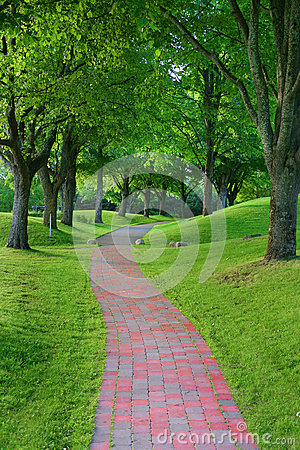 Free Garden Stone Path In Park Stock Photography - 9998182