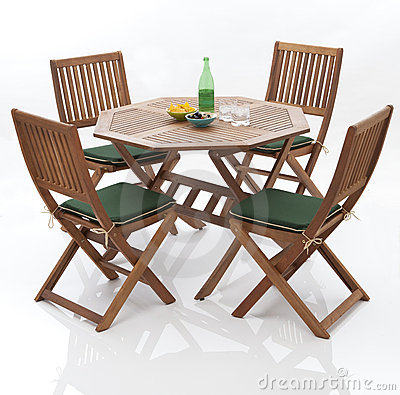 Garden Tables  Chairs on Home   Royalty Free Stock Images  Garden Table And Chairs