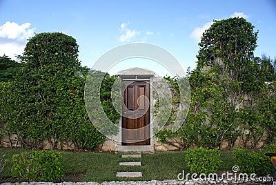 Garden Wall and Door